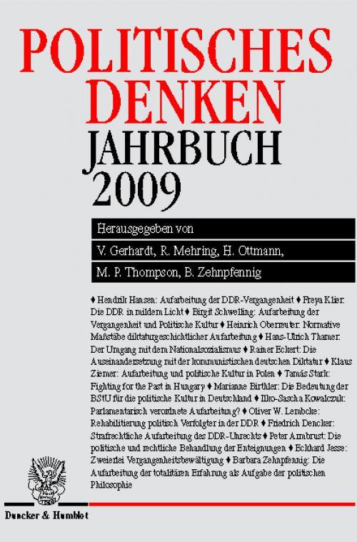 Politisches Denken. Jahrbuch 2009. cover