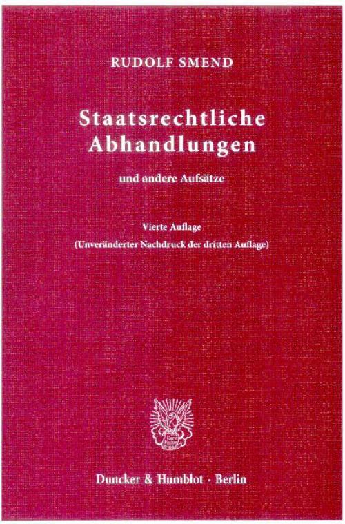 Staatsrechtliche Abhandlungen cover