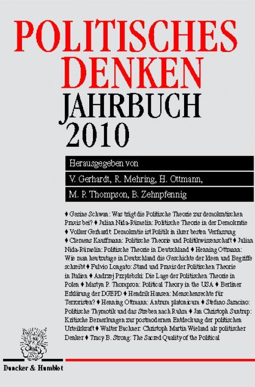 Politisches Denken. Jahrbuch 2010. cover