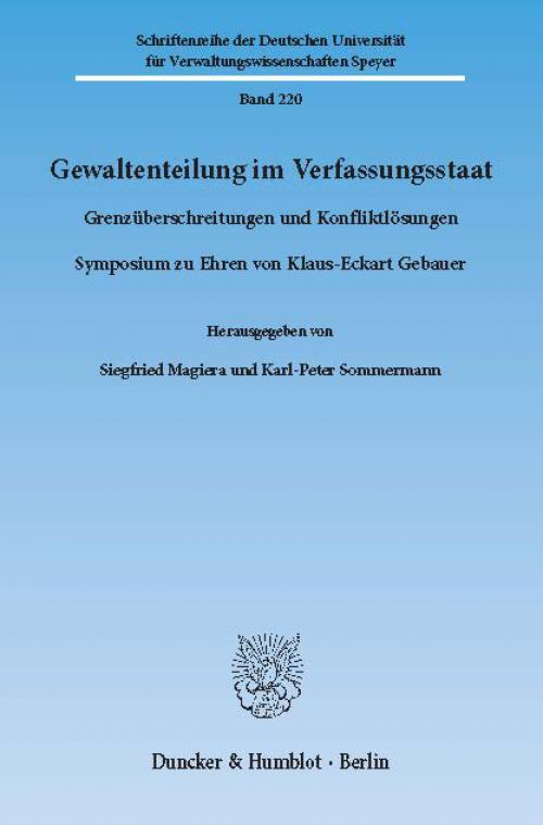 Gewaltenteilung im Verfassungsstaat. cover