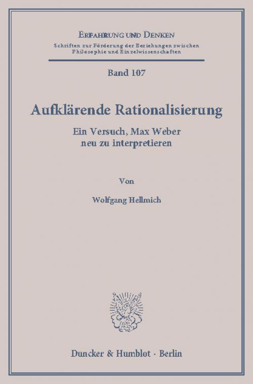 Aufklärende Rationalisierung. cover