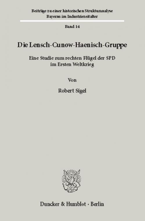 Die Lensch-Cunow-Haenisch-Gruppe. cover