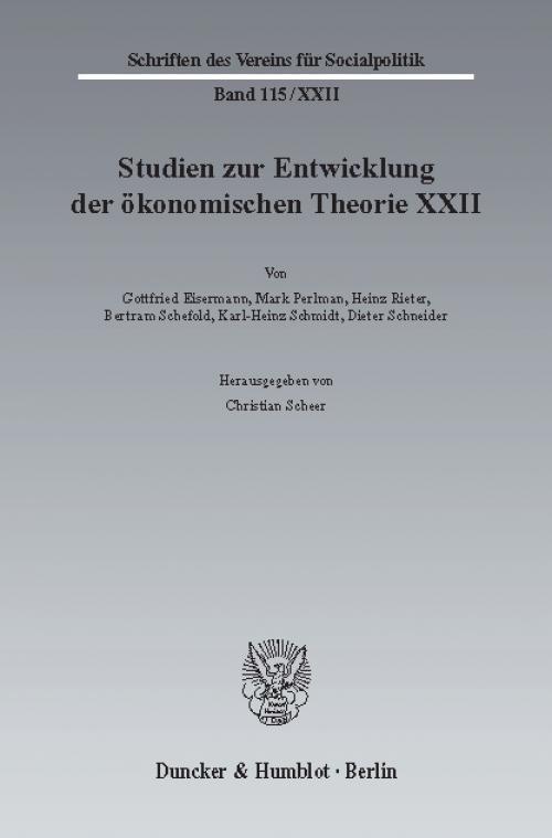 Ideen, Methoden und Entwicklungen der Geschichte des ökonomischen Denkens. cover