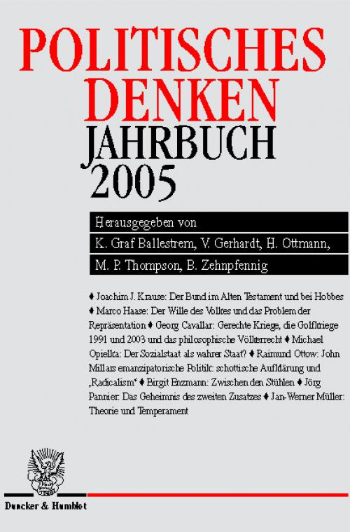 Politisches Denken. Jahrbuch 2005. cover