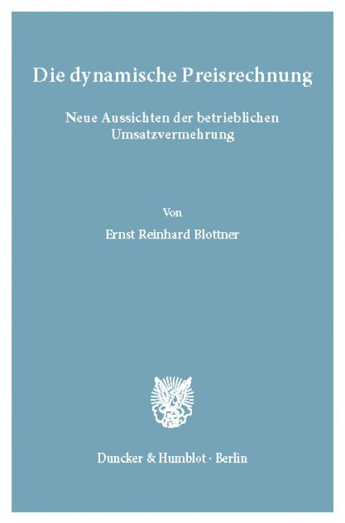 Die dynamische Preisrechnung. cover