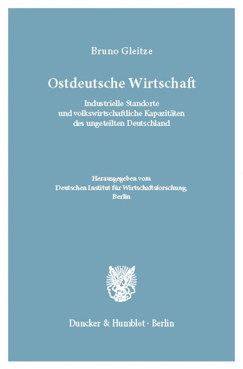 Ostdeutsche Wirtschaft. cover