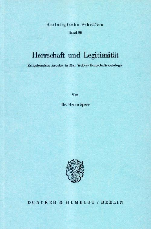 Herrschaft und Legitimität. cover