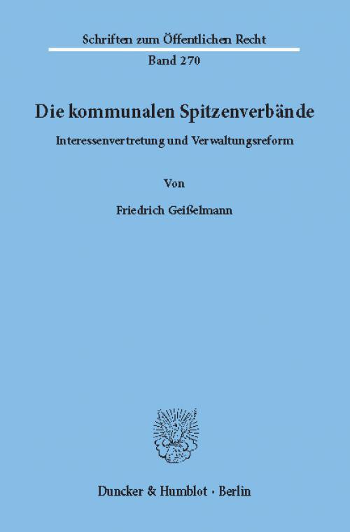 Die kommunalen Spitzenverbände. cover