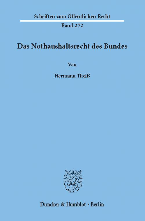 Das Nothaushaltsrecht des Bundes. cover