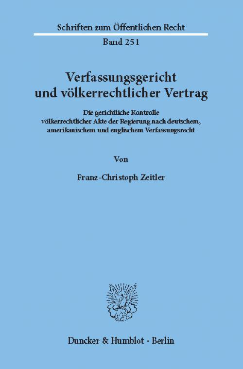 Verfassungsgericht und völkerrechtlicher Vertrag. cover
