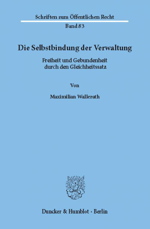 Die Selbstbindung der Verwaltung. cover