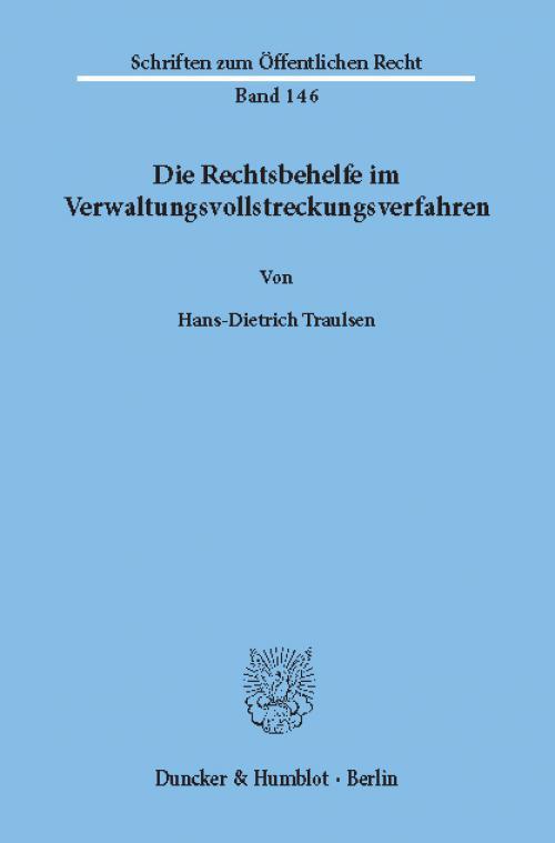 Die Rechtsbehelfe im Verwaltungsvollstreckungsverfahren. cover