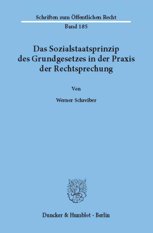 Das Sozialstaatsprinzip des Grundgesetzes in der Praxis der Rechtsprechung. cover