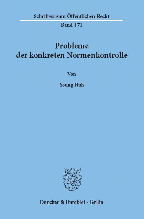 Probleme der konkreten Normenkontrolle, cover