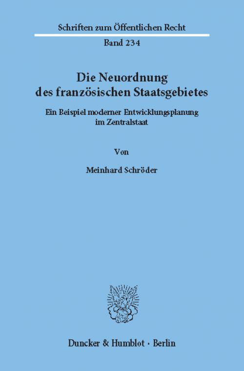 Die Neuordnung des französischen Staatsgebietes. cover