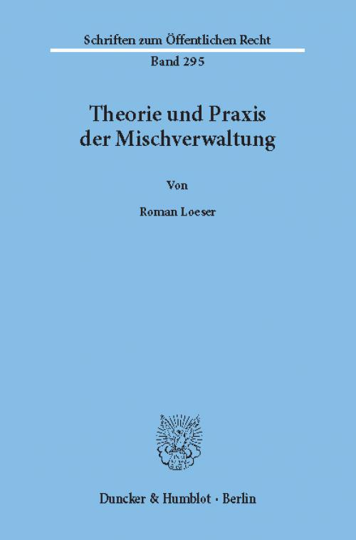 Theorie und Praxis der Mischverwaltung. cover
