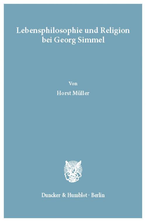 Lebensphilosophie und Religion bei Georg Simmel. cover