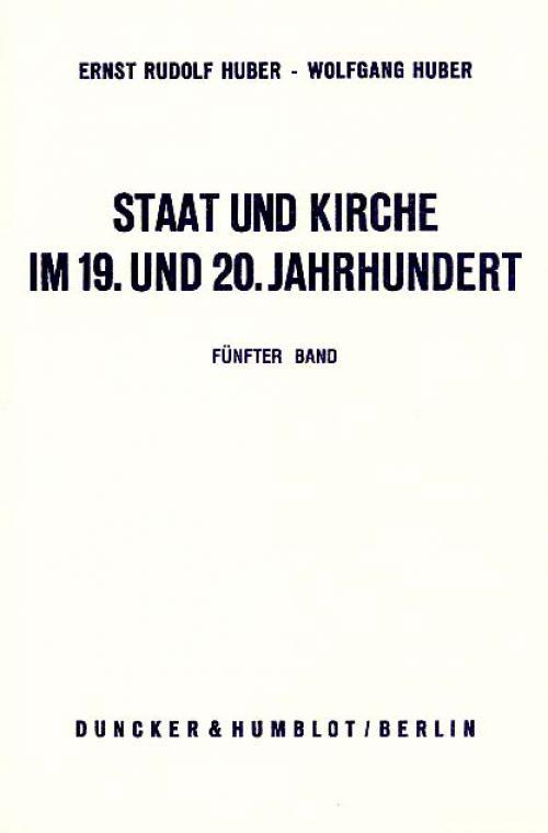 Staat und Kirche im 19. und 20. Jahrhundert. cover