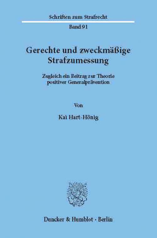 Gerechte und zweckmäßige Strafzumessung. cover