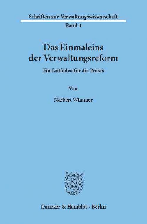 Das Einmaleins der Verwaltungsreform. cover