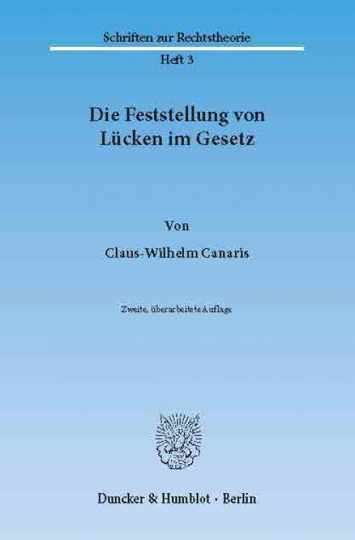 Die Feststellung von Lücken im Gesetz. cover