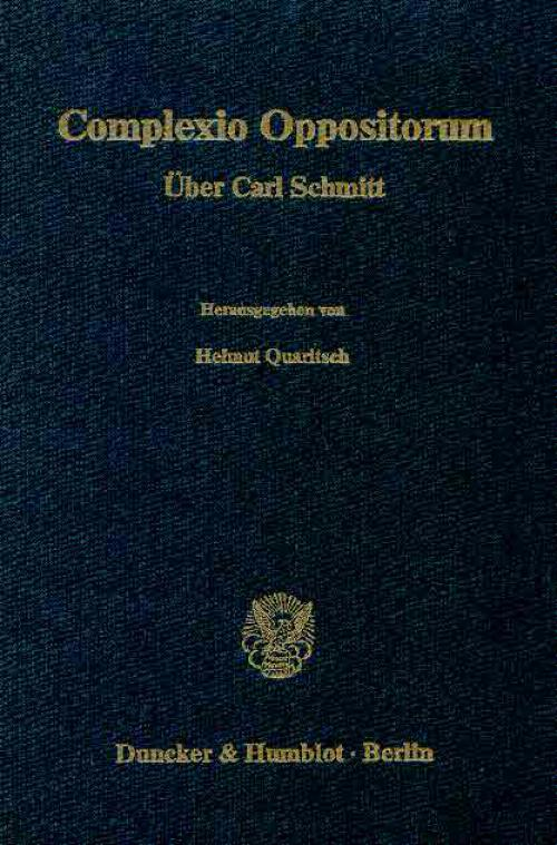 Complexio Oppositorum. cover