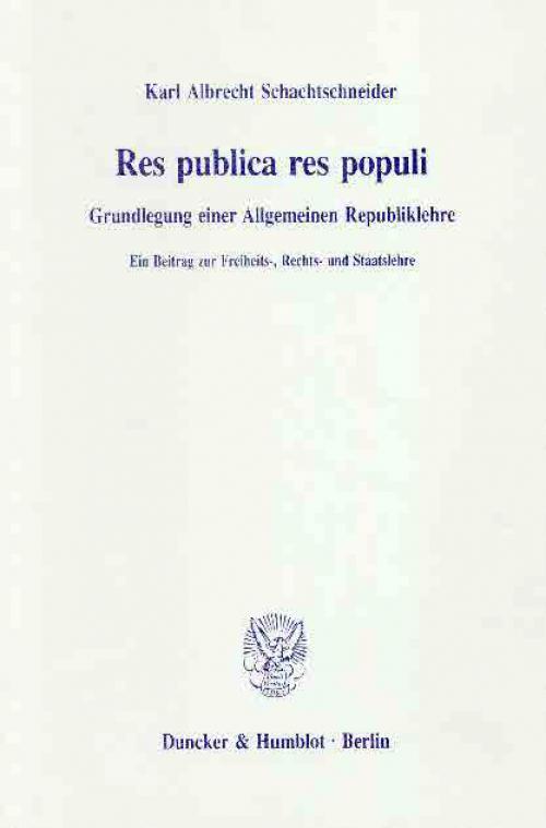 Res publica res populi. cover