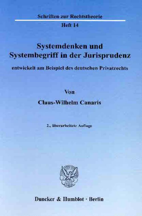 Systemdenken und Systembegriff in der Jurisprudenz, cover