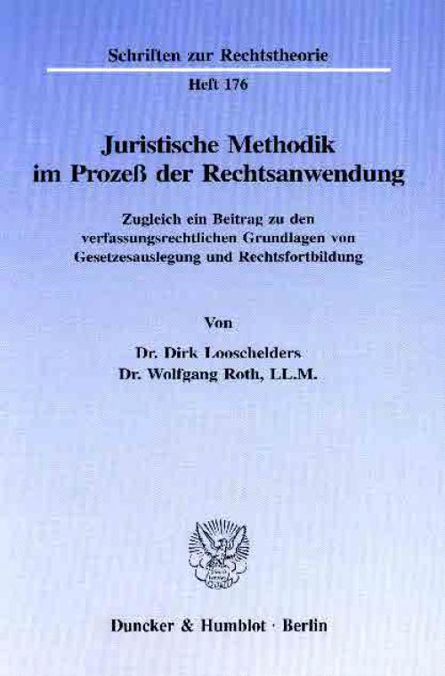 Juristische Methodik im Prozeß der Rechtsanwendung. cover