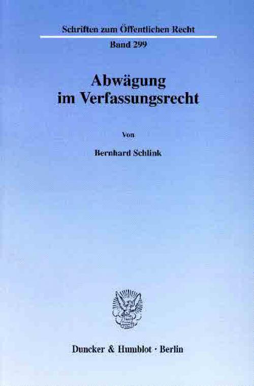 Abwägung im Verfassungsrecht. cover