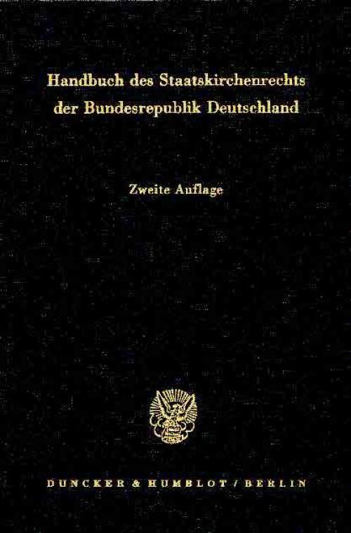 Handbuch des Staatskirchenrechts der Bundesrepublik Deutschland. cover