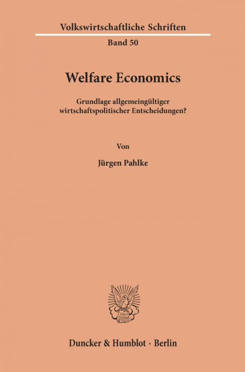 Welfare Economics. cover