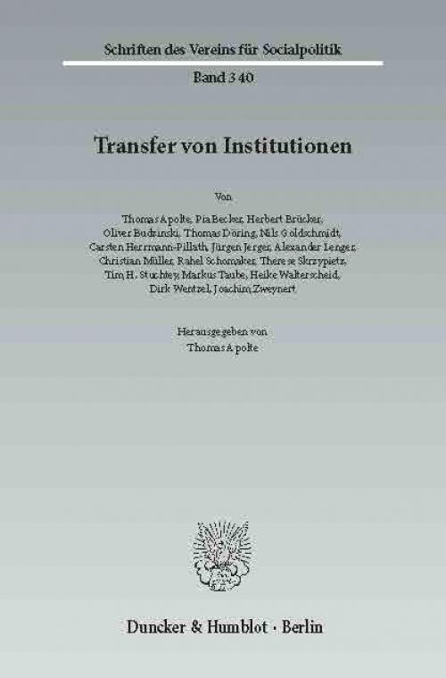 Transfer von Institutionen. cover