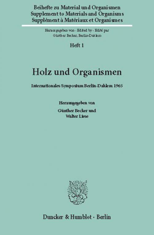 Holz und Organismen. cover