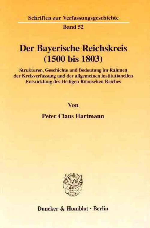 Der Bayerische Reichskreis (1500 bis 1803). cover