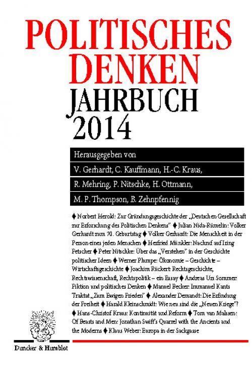 Politisches Denken. Jahrbuch 2014. cover
