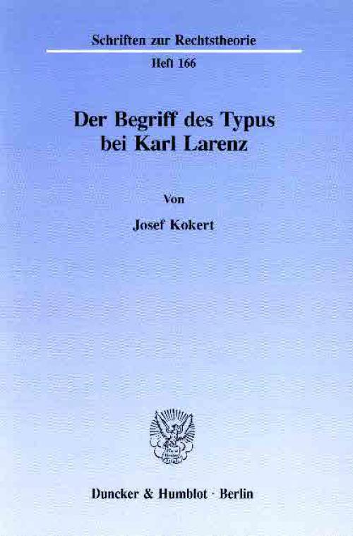 Der Begriff des Typus bei Karl Larenz. cover