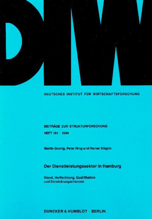 Der Dienstleistungssektor in Hamburg. cover