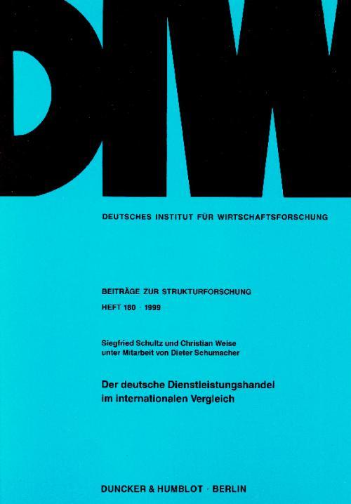 Der deutsche Dienstleistungshandel im internationalen Vergleich. cover