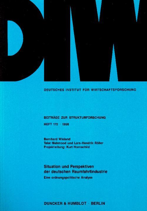 Situation und Perspektiven der deutschen Raumfahrtindustrie. cover
