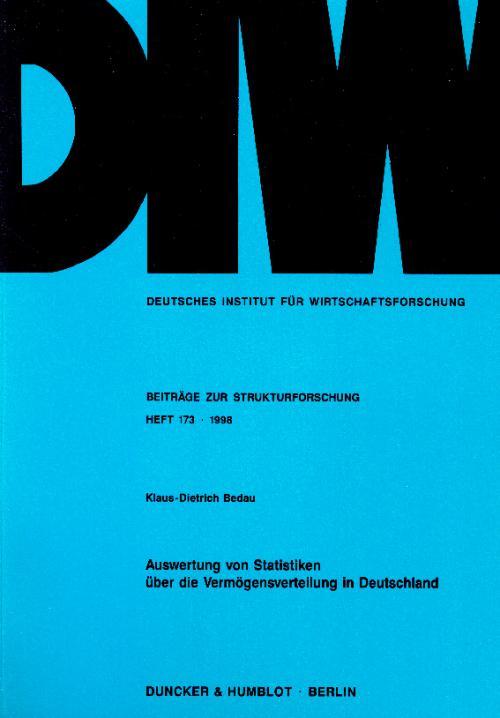 Auswertung von Statistiken über die Vermögensverteilung in Deutschland. cover
