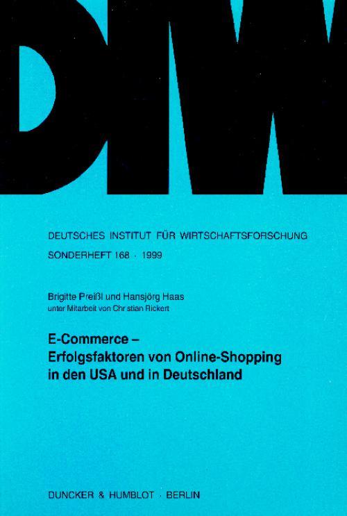 E-Commerce - Erfolgsfaktoren von Online-Shopping in den USA und in Deutschland. cover