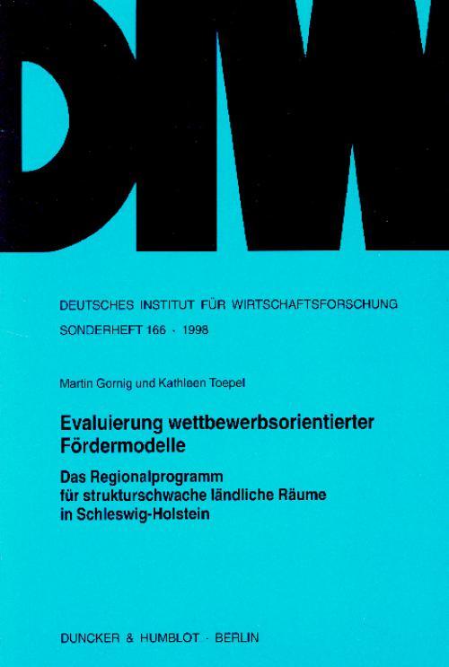Evaluierung wettbewerbsorientierter Fördermodelle. cover