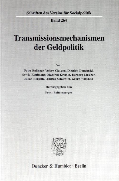 Transmissionsmechanismen der Geldpolitik. cover