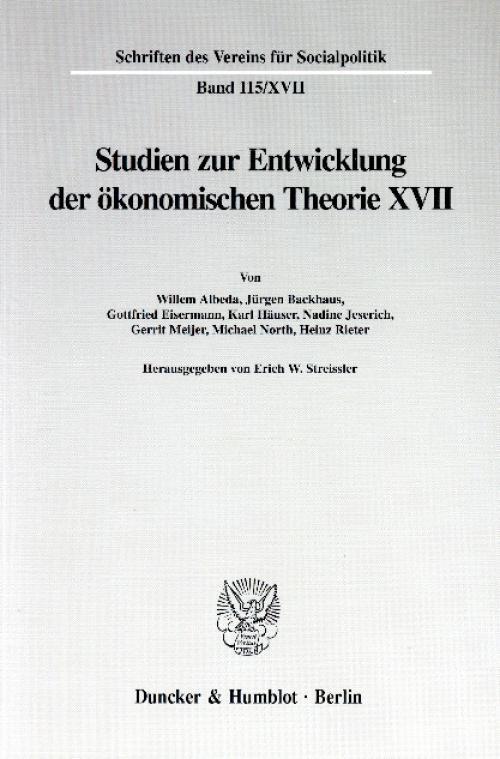 Die Umsetzung wirtschaftspolitischer Grundkonzeptionen in die kontinentaleuropäische Praxis des 19. und 20. Jahrhunderts, II. Teil. cover