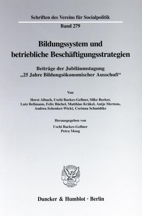 Bildungssystem und betriebliche Beschäftigungsstrategien. cover
