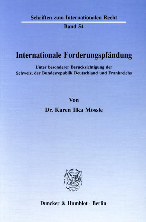 Internationale Forderungspfändung. cover