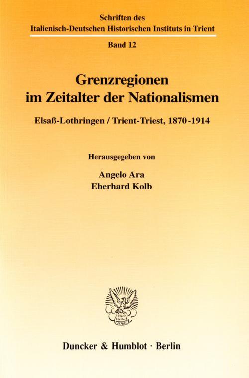Grenzregionen im Zeitalter der Nationalismen. cover
