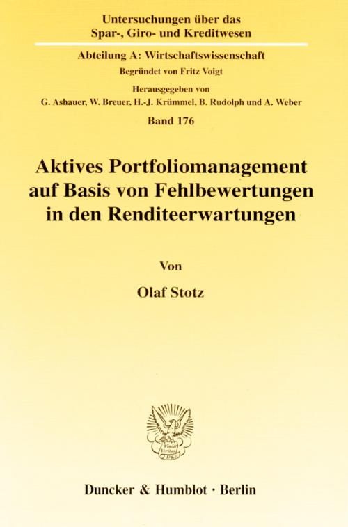 Aktives Portfoliomanagement auf Basis von Fehlbewertungen in den Renditeerwartungen. cover