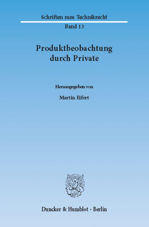 Produktbeobachtung durch Private. cover